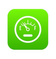 fuel sensor icon digital green vector image