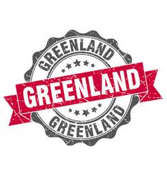 greenland round ribbon seal vector image