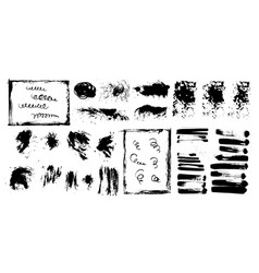 hand draw sketch paint brush set artistic sketch vector image