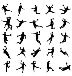 Handball Silhouette set vector image