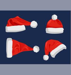 hat of santa claus closeup vector image