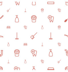 Hygiene icons pattern seamless white background vector