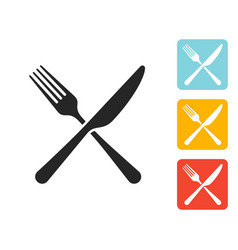 Icon fork and knife sign vector