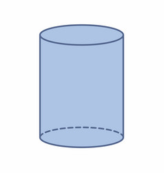isolated cylinder vector image