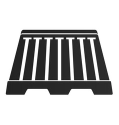 isolated traffic barricade vector image
