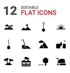 landscape icons vector image