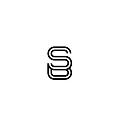 Letter s and b logo concept vector