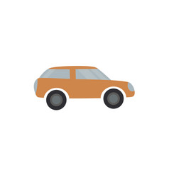 light brown passenger car - flat design of vector image