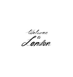 London sign handwritten lettering london city vector