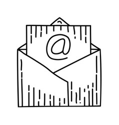 mail icon doodle hand drawn or outline icon style vector image