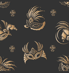 masks seamless pattern vector image vector image