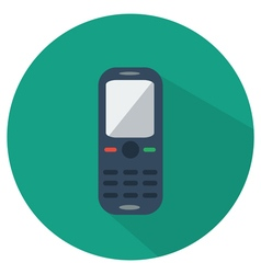 Mobile phone icon flat vector
