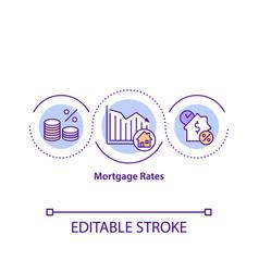 Mortgage rates concept icon vector