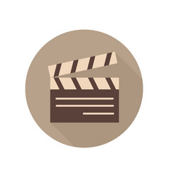 movie clapper board icon movie clap sign and vector image
