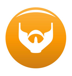 Much beard icon orange vector