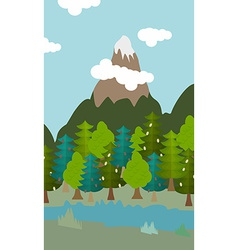 natural landscape cartoon background vector image