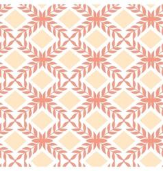 Peach orange argyle retro seamless pattern vector image