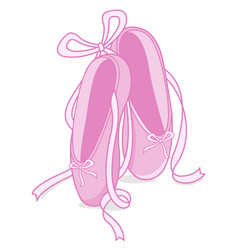 Pink ballet shoes vector