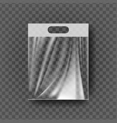 plastic hanger pocket bag transparent hang vector image