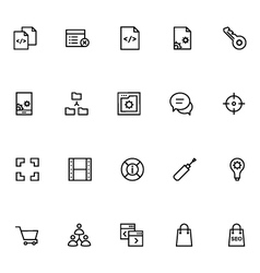 Productivity and Development Icons 8 vector