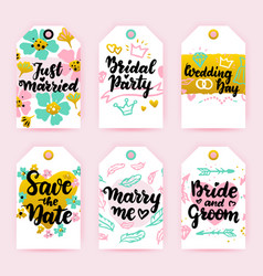 save date greeting gift labels vector image