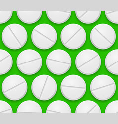 seamless texture realistic pills on green vector image