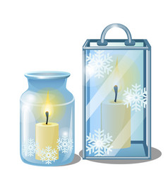 set of decorative elements on theme of christmas vector image