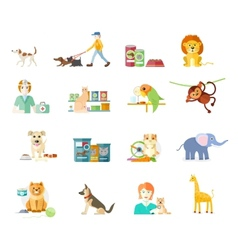 Set of home pets vector image