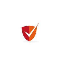 shield protect secure check logo vector image