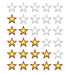 simple yellow rating stars vector image