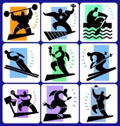 Sports icon set vector