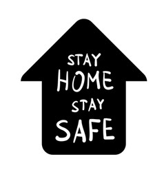 stay home safe message vector image