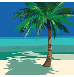 Summer Beach Ocean view vector