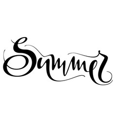 summer hand written text isolated on white vector image