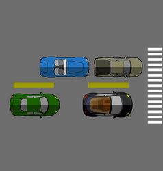 top view of a street vector image