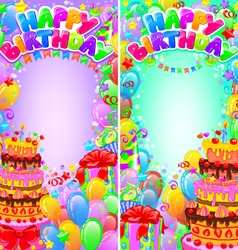 Vertical banner birthday bright with space vector