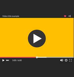 Video player interface web screen template media vector