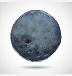 watercolor-blue-dark-blot vector image