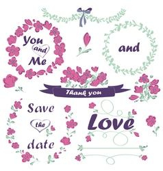 Wedding and Valentines Day collection vector image