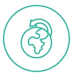 World wide cargo transportation line icon vector image