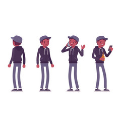 Young black man standing vector