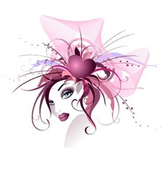 Beautiful floral girl vector image