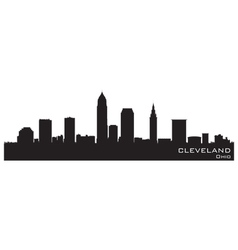 Cleveland Ohio skyline vector image