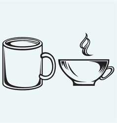 Collection coffee cups vector