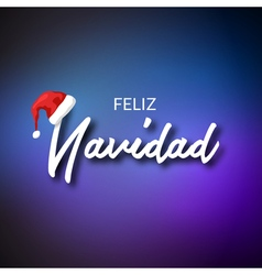 Feliz Navidad Merry Christmas card template with vector image