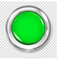 green plastic button vector image