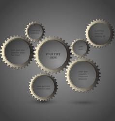 Metallic gear wheels vector