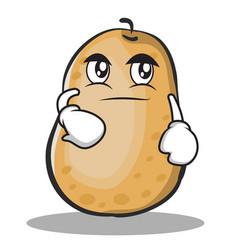 smirking potato character cartoon style vector image vector image
