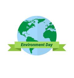 earth globe world environment day ecology vector image