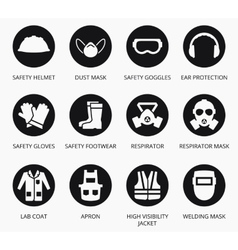 Industry health and safety protection equipment vector image vector image
